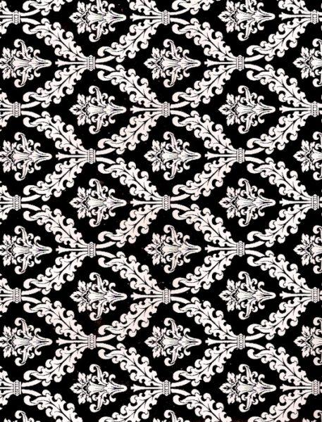 Black Damask Giftwrap