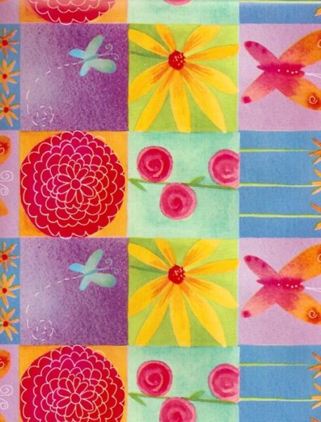 Bright Butterflies Floral Giftwrap