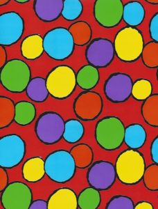 Bright Crazy Dots Giftwrap