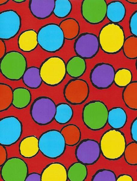 Bright Crazy Dots Giftwrap