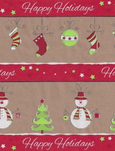 Citrus Snowman Kraft Gift Wrap