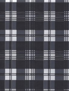 Black and Silver Plaid Giftwrap
