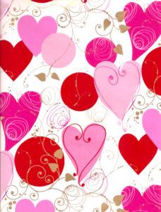Modern Hearts Giftwrap
