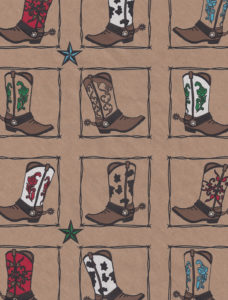 Western Boots Kraft Gift Wrap