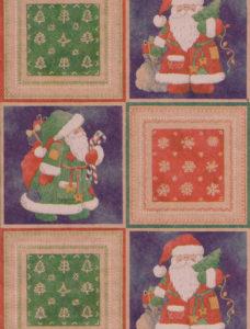 Bandana Santa Kraft Giftwrap