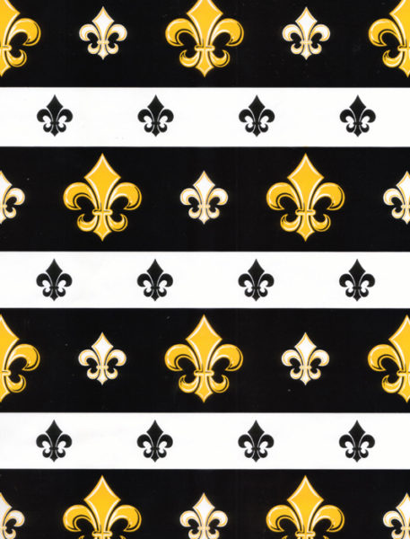 Black Fleur de Lis Giftwrap