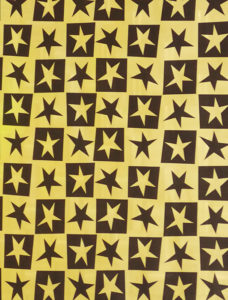Gold and Black Stars Embossed Foil