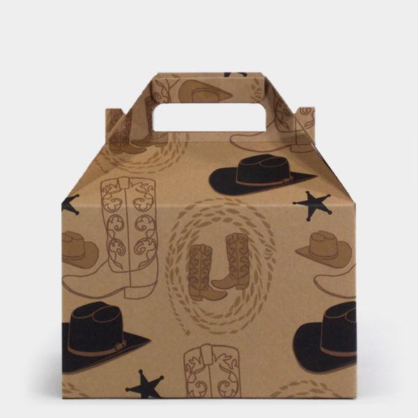 Black Hat Western Kraft Gable Box