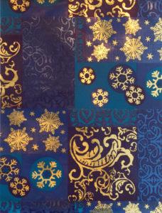 Blue & Gold Snowflake Foil