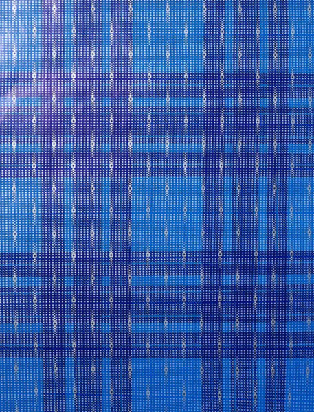 Blue and Silver Pearl Plaid