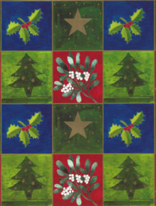 Blue Christmas Icon Squares Giant Roll