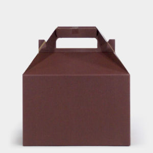 Chocolate Kraft Gable Box
