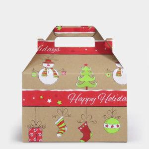 Citrus Snowman Kraft Gable Box