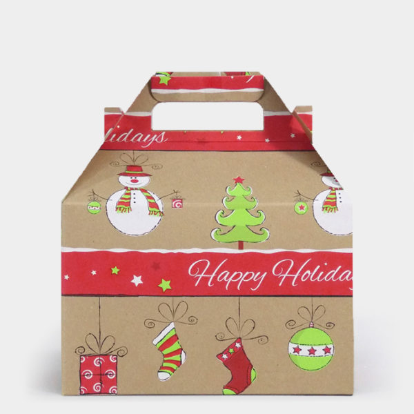 Citrus Snowman Kraft Gable Box