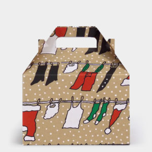 Clothesline Santa Kraft Gable Box