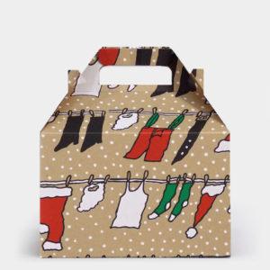 Clothesline Santa Kraft Gable Box