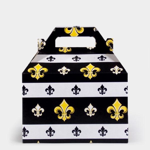 Black Fleur de Lis Gable Box