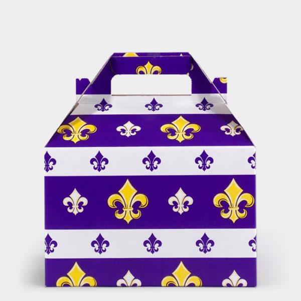 Purple Fleur de Lis Gable Box