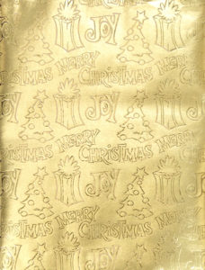 Gold Embossed Christmas Foil