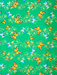 Butterflies on Green Foil
