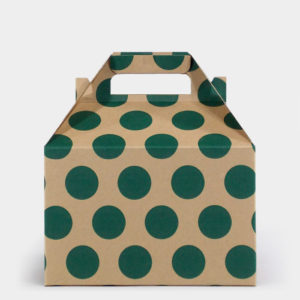 Green Dot Kraft Gable Box