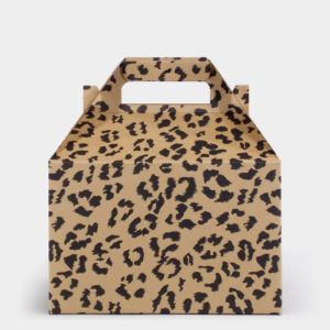 Leopard Kraft Gable Box