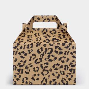 Leopard Kraft Gable Box