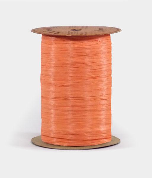 Matte Orange Raffia