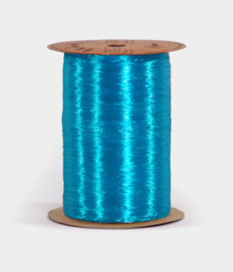 Aqua Blue Pearlized Raffia