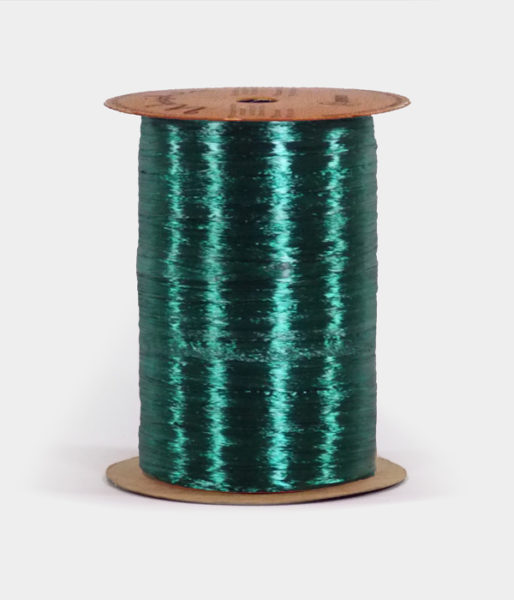 Hunter Green Pearlized Raffia