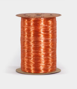 Orange Pearlized Raffia