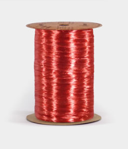 Red Pearlized Raffia