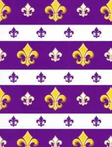 Purple Fleur de Lis Giftwrap