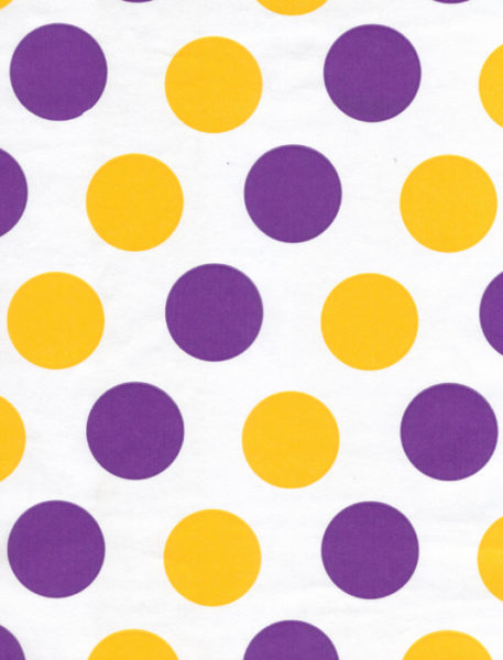 Purple & Gold Dots Giftwrap
