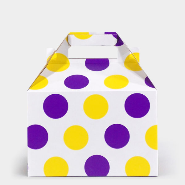 Purple & Gold Dot Gable Box
