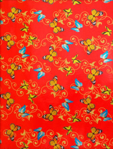 Butterflies on Red Foil
