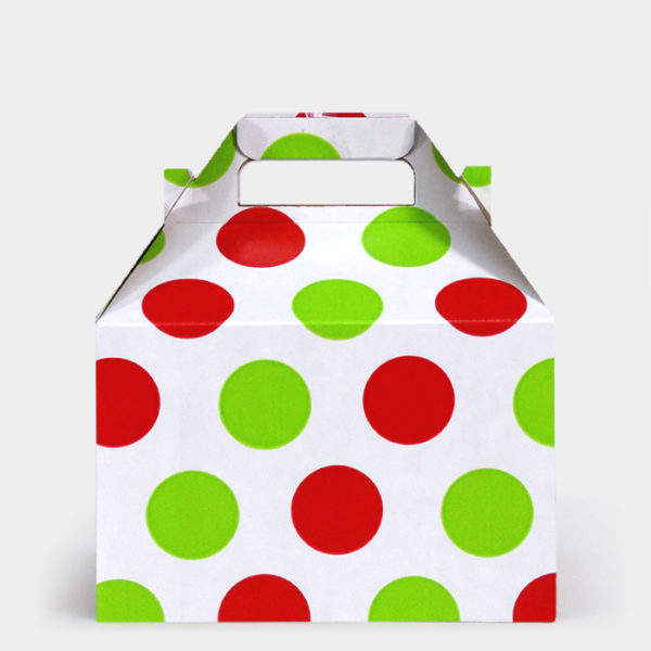 Red & Citrus Dots Gable Box