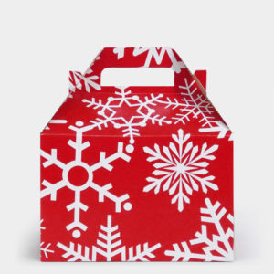 Red Festive Flakes Gable Box