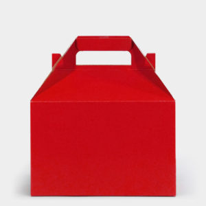 Solid Red Glossy Gable Box