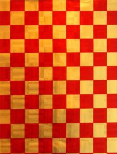 Red & Gold Shimmer Squares Foil