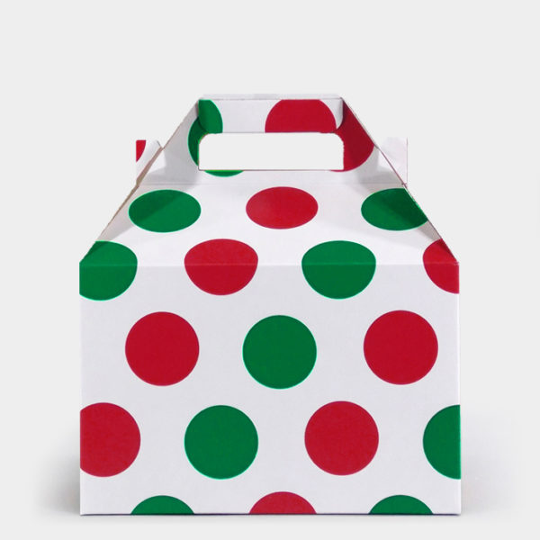 Red & Green Dots Gable Box