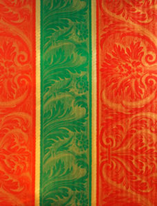 Red & Green & Gold Bands Embossed Foil