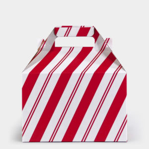 Red Slant Stripe Gable Box