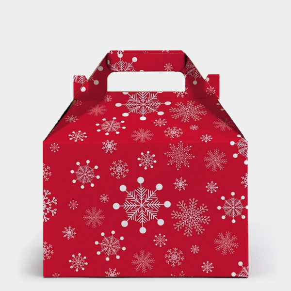 Red Snowflake Gable Box