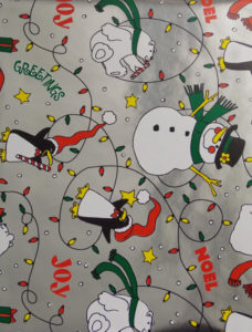 Silver Lights and Snowmen Foil