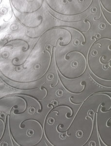 Silver and White Swirls Foil