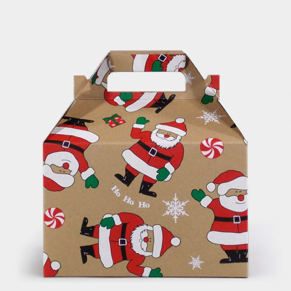 Smiling Santa Kraft Gable Box