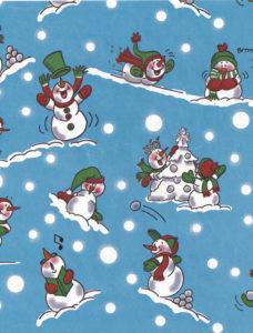 Snowmen on Blue Giant Roll