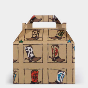 Western Boots Kraft Gable Box