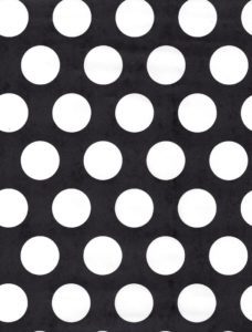 White Dot on Black Gift Wrap